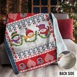 Snowman Christmas MMM231106MI Sherpa Fleece Blanket