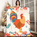 Rooster AAA231104TA Sherpa Fleece Blanket