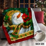 Snowman Christmas MMM231102MI Sherpa Fleece Blanket
