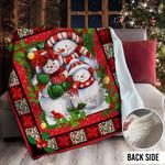 Snowman Christmas MMM231105MI Sherpa Fleece Blanket