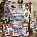 Snowman Son HHH231103NA Sherpa Fleece Blanket