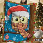 Owl HHH231107TN Sherpa Fleece Blanket