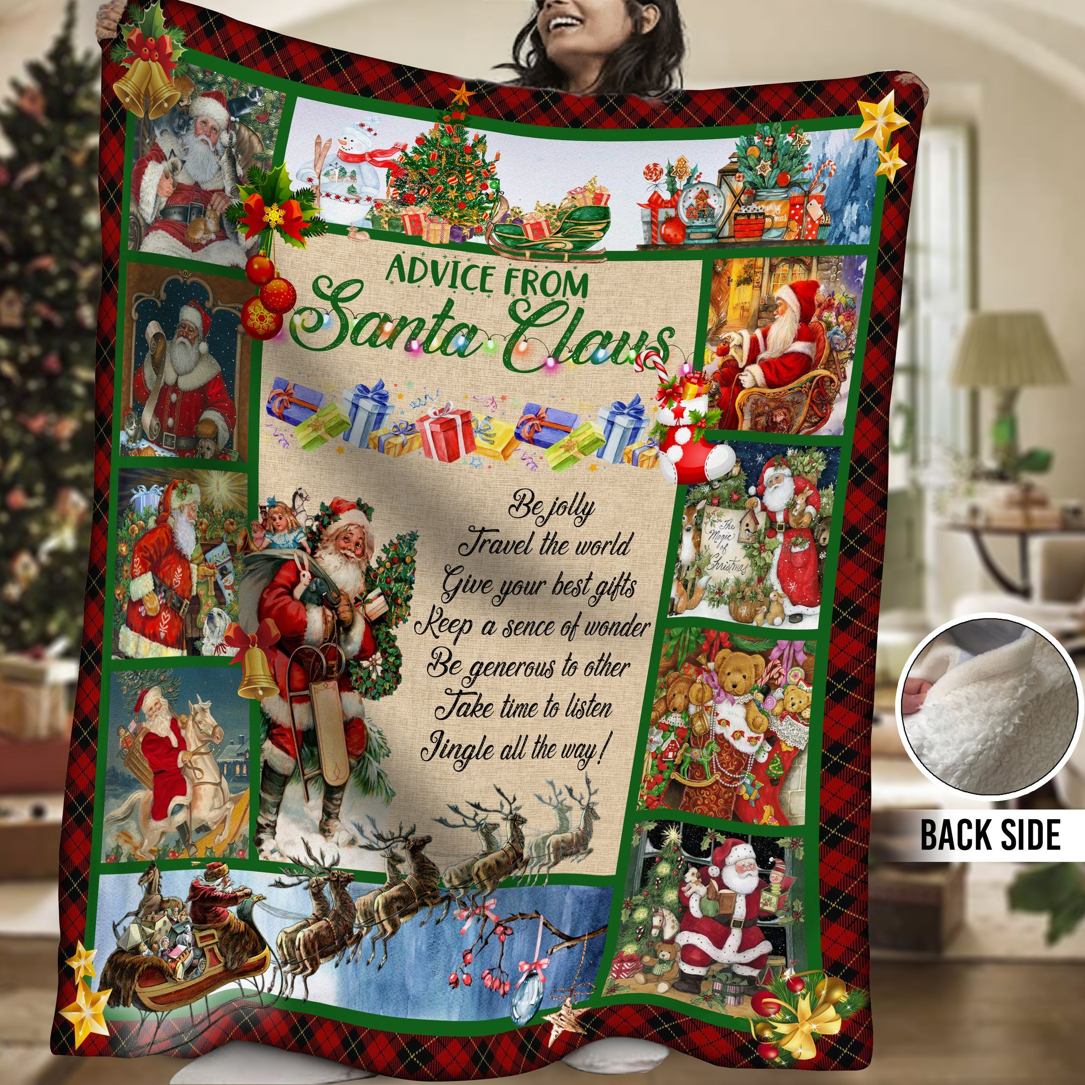 Santa Claus HHH231101NA Sherpa Fleece Blanket