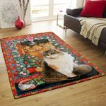 Cat With Flowers DPT231102VL Rug