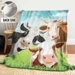 Cow AAA241107TA Sherpa Fleece Blanket