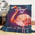 Flamingo Mandala DTH241105HD Sherpa Fleece Blanket