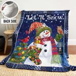 Snowman LML241107 Sherpa Fleece Blanket