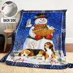 Snowman LML241108 Sherpa Fleece Blanket