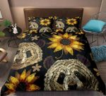 Retro Panda Yellow Sun Flower DAC251139 Bedding Set