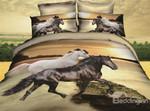3D White and Black Horses DAC251101 Bedding Set