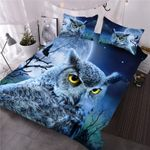 Owl Face with Full Moon DAC251131 Bedding Set
