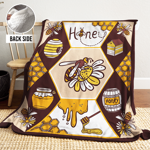 Bee AAA251105TA Sherpa Fleece Blanket