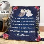 Owl DTH251103HD Sherpa Fleece Blanket