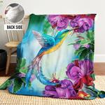 Hummingbird AAA251102TA Sherpa Fleece Blanket