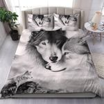 Couple Wolf Black And White PTC251113 Bedding Set