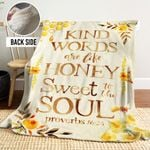 Kind Words Are Like Honey PTT251112 Sherpa Fleece Blanket
