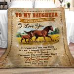 To My Daughter Horse DPT251101VL Sherpa Fleece Blanket