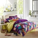 Purple Teal and Pink Yellow Bohemian DAC261117 Bedding Set