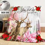 Deer DTH261103HD Sherpa Fleece Blanket
