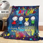 Autism DTH261104HD Sherpa Fleece Blanket