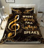 Where Words Fail Music Speaks DTC2611901 Bedding Set