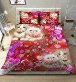 Happy Cat Couple DTC2611915 Bedding Set