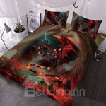 3D Fire Dragon DAC271140 Bedding Set