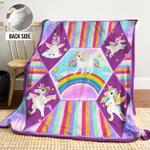 Unicorn AAA271101TA Sherpa Fleece Blanket