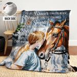 Horse AAA271103TA Sherpa Fleece Blanket
