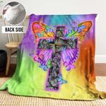 Butterfly Faith MMM271105MI Sherpa Fleece Blanket