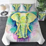 Light Lime Elephant PTC021215 Bedding Set