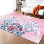 Floral Fairy Unicorn PTC021210 Rug
