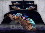 3D Frogs and Butterfly DAC031268 Bedding Set