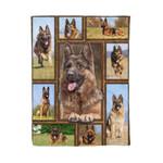 German shepherd MMC0412102 Fleece Blanket