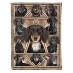Dachshund MMC041274 Fleece Blanket