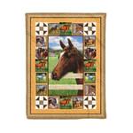 Horse MMC0412113 Fleece Blanket