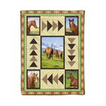 Horse MMC0412109 Fleece Blanket