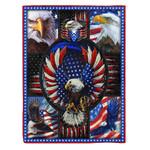American Bald Eagle MMC041240 Fleece Blanket