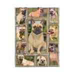 French Bulldog MMC041299 Fleece Blanket