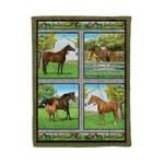 Horse MMC0412111 Fleece Blanket
