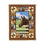Horse MMC0412116 Fleece Blanket