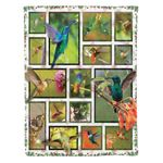 Humming Birds MMC0412117 Fleece Blanket