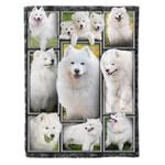 Samoyed dog MMC0412131 Fleece Blanket
