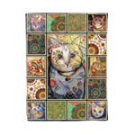 Cat MMC041267 Fleece Blanket
