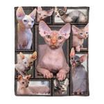Sphynx cat MMC0412134 Fleece Blanket
