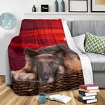 German Shepherd Sunset DTC0412726 Fleece Blanket