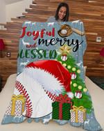 Baseball Joyful And Blessed DTC0412759 Fleece Blanket