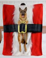 German Shepherd Santa Suit DTC0412727 Fleece Blanket