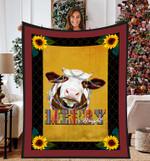Cow Christmas DTC0412735 Fleece Blanket