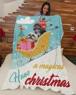 Shih Tzu A Magical Xmas DTC0412708 Fleece Blanket